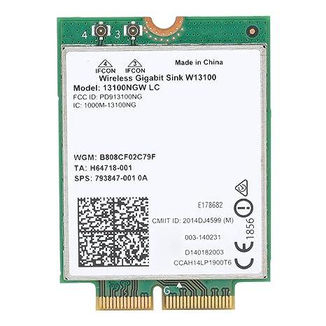 ASHATA Tarjeta de Red, Intel 13100NGW W13100 802.11ad 802.11 ...