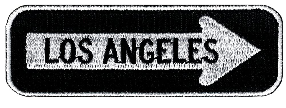 One Way Sign Los Angeles California Embroidered Patch Iron-On Biker CYP-01726