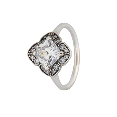 6931802e7b1a5 Amazon.com: PANDORA Crystallized Floral Fancy Ring 190966CZ ...