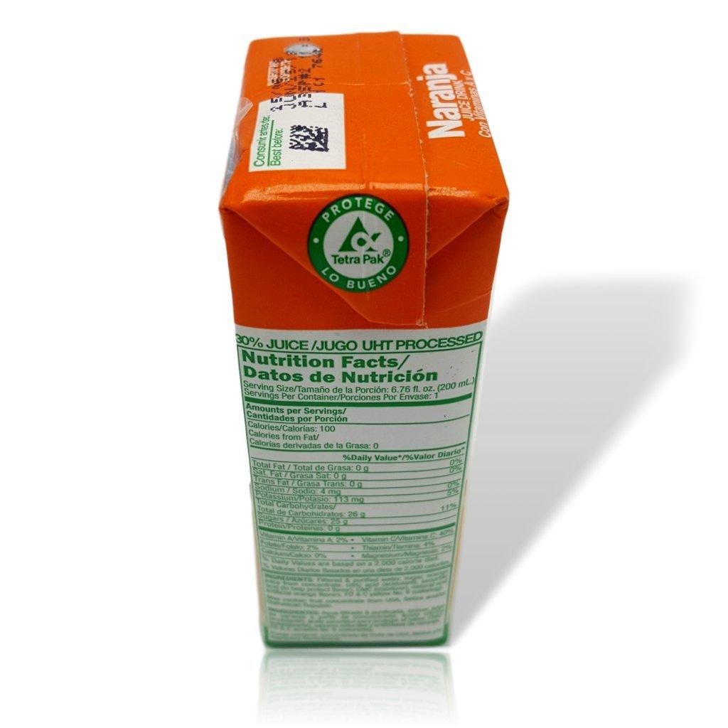 Amazon.com : Rica Orange Juice Drink Jugo de Naranja 200 Ml (12 Pack) : Grocery & Gourmet Food