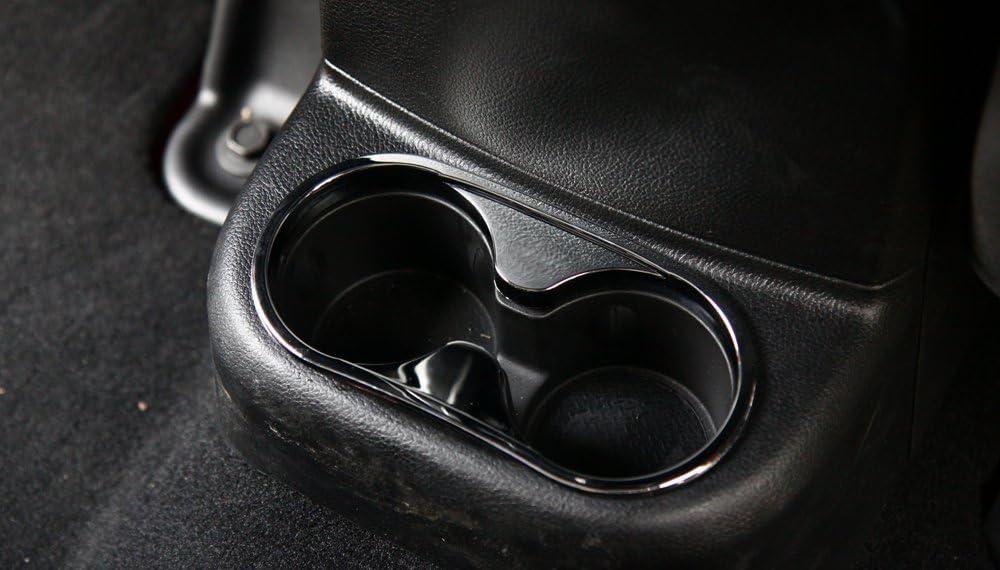 BORUIEN Carbon Fiber Grain ABS Front Rear Water Cup Holder Decor Gear Shift Box Panel Decor Frame Cover Sticker Trim for Jeep Wrangler 2011-2016