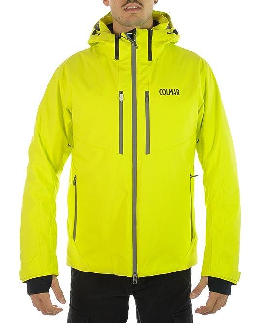 COLMAR Whistler SKI Jacket, Giacca Uomo, Giallo Fluo, 50