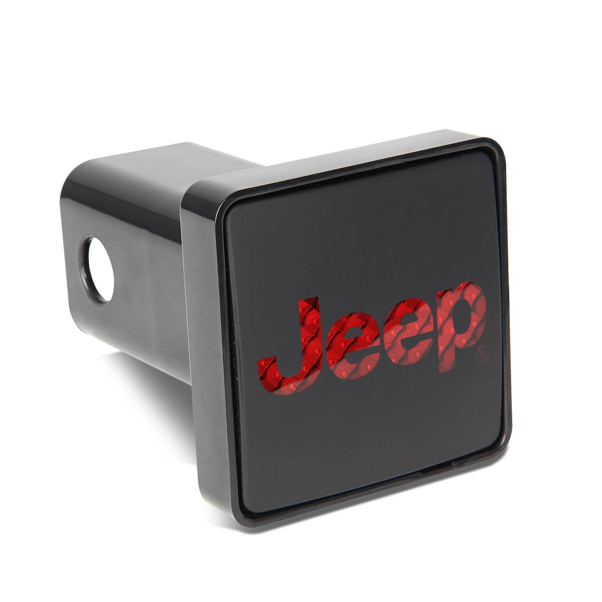 Bully CR-007J Jeep Tow Hitch Cover/Receiver Trailer Plug in Black with LED Brake Light Jeep Logo Emblem - Jeep (JK, YJ, TJ) Wrangler Accessories - Genuine License Products by Bully