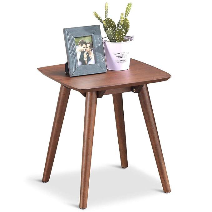 Amazon.com: Mesa auxiliar de sofá con patas de madera maciza ...