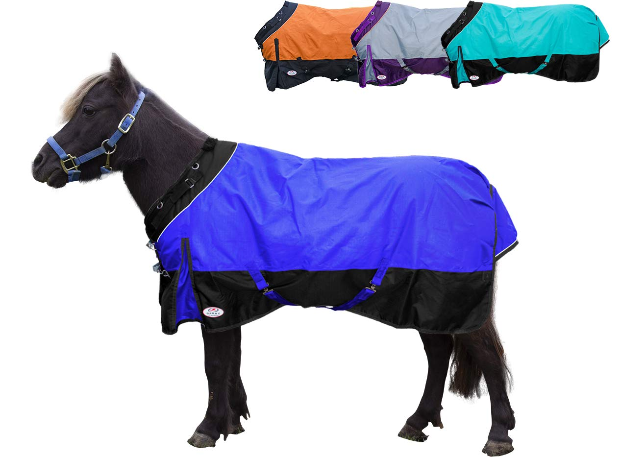 Derby Originals Windstorm Series Mini Horse and Pony 1200D Ripstop Waterproof Nylon Winter Turnout Blanket with 300g Polyfil Insulation  - Two Year Limited Manufacturer' s Warranty Royal International 80-8024TQ-54