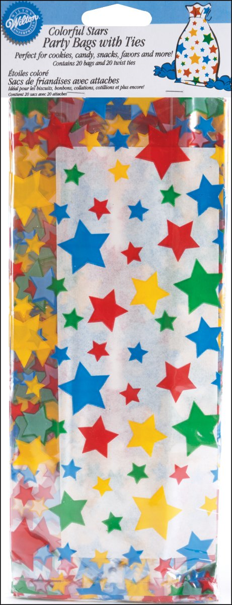 Wilton Colorful Stars Party Bags, 20 count