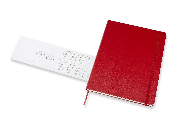 Agenda 18 mesi 2019//2020 Moleskine 8058647628530 colore: Rosso scarlatto copertina rigida XL