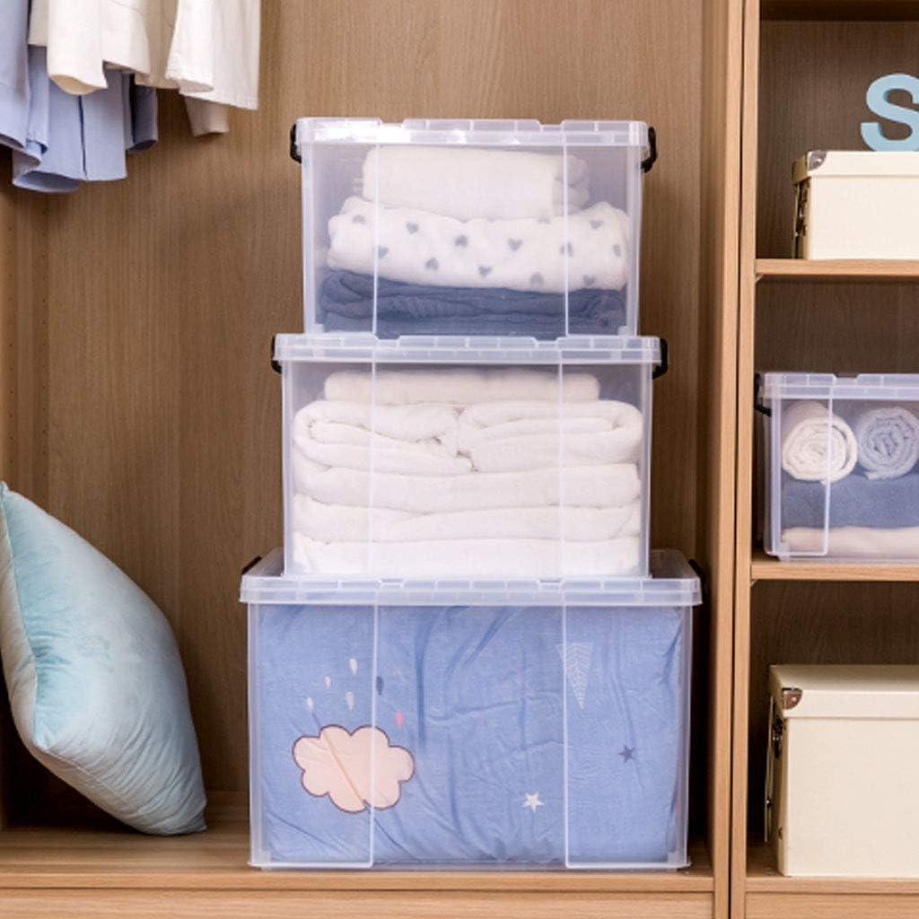 Storage Box Caja De Almacenamiento Transparente De PláStico Extra Grande - 150 litros, PláStico Grueso, con Tapa: Amazon.es: Hogar
