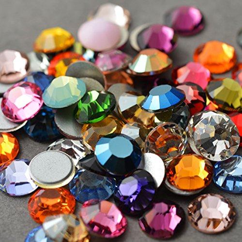 34ss Crystal (24 SWAROVSKI Rhinestones Crystal FlatBack MIX 34ss)