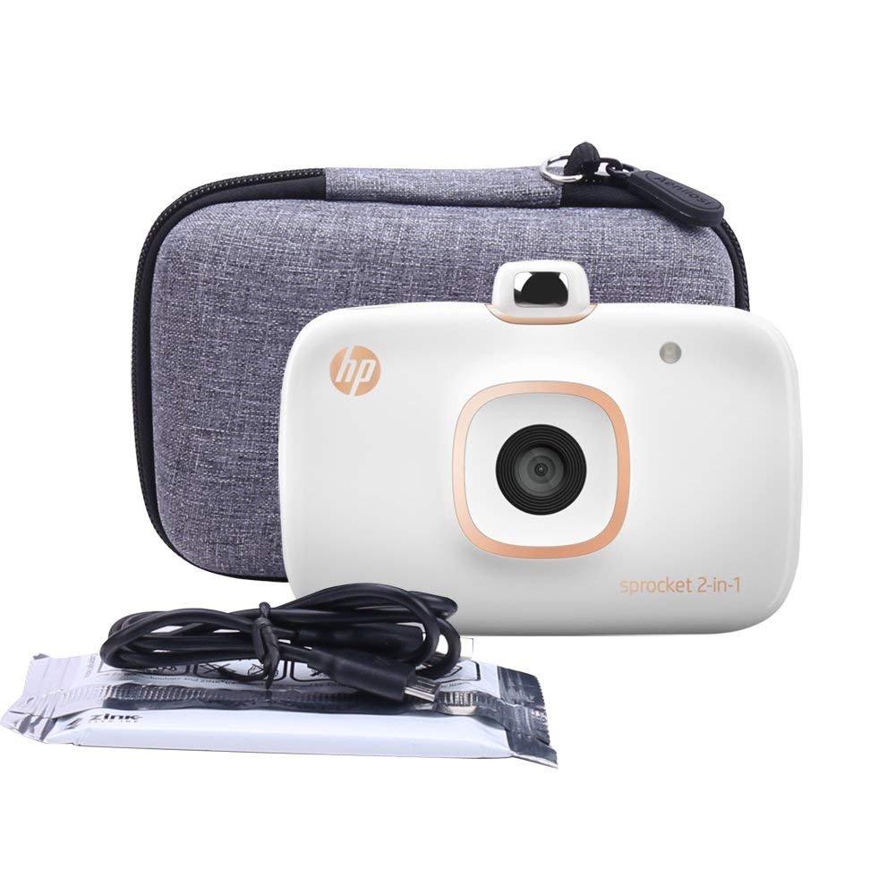 Aenllosi Hart Taschen H/ülle f/ür HP 2-in-1 Sprocket Mobiler Fotodrucker und Sofortbildkamera f/ür Zink 5 x 7.6 cm Fotopapier