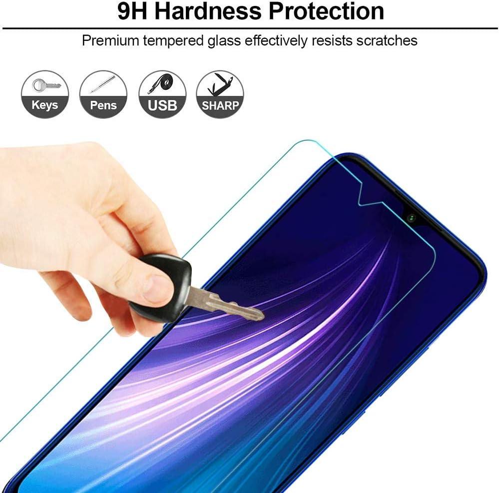 IRROT Protector de Pantalla para Xiaomi Redmi Note 8, 3 Piezas Sin Burbujas, Anti-Ara/ñazos, Funda Compatible, Alta Definicion, 9H Dureza Cristal Templado para Xiaomi Redmi Note 8