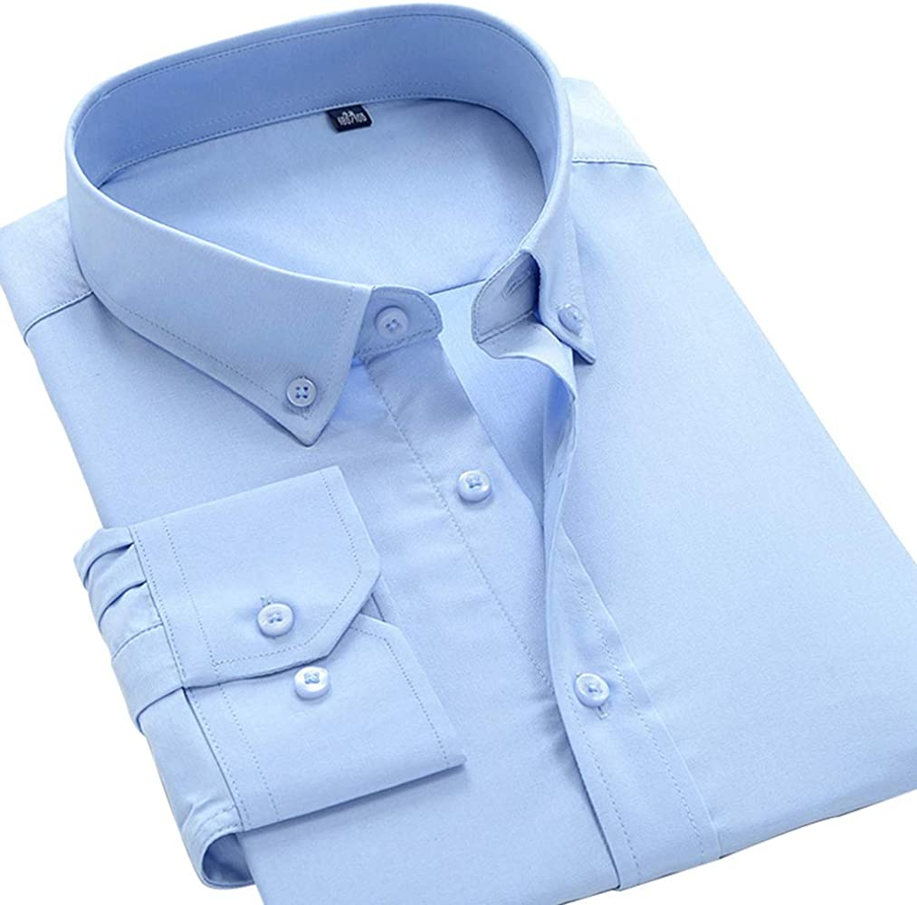 Camisa, Camisa Formal de Manga Larga para Hombre Camisa de Trabajo ...