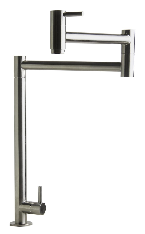 Alfiブランドab5018 Retractableポットフィラー蛇口、 AB5018-BSS 1 B00VK5I7W2 つや消しステンレススチール つや消しステンレススチール