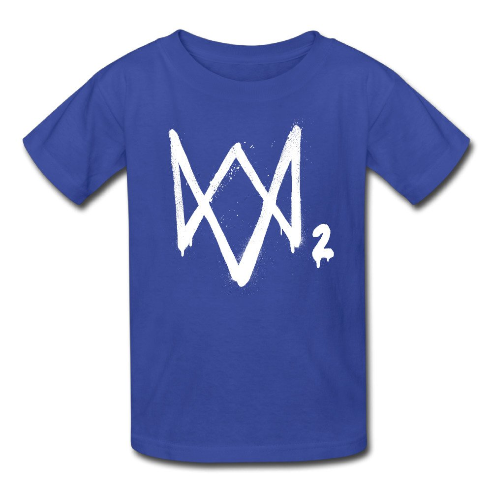 TONYMP Watch Dogs 2 Logo2 Youth Retro Pre-Cotton Short Sleeve T-Shirt