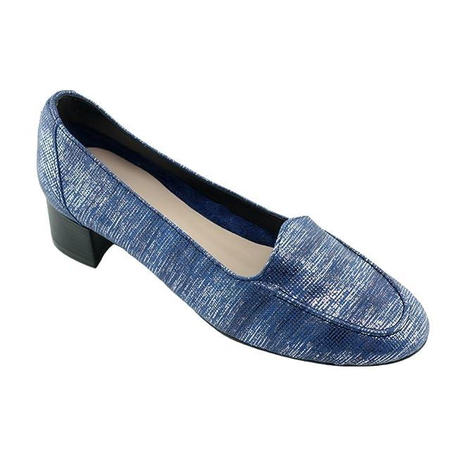 Angelina Janette - Mocassins Bleu - Chaussures Ballerines Femme