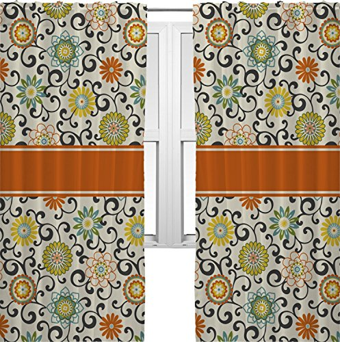 RNK Shops Swirls & Floral Curtains – 20″x63″ Panels – Unlined (2 Panels Per Set) (Personalized) For Sale
