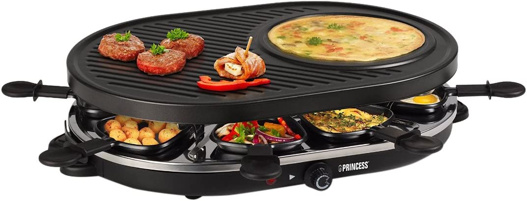 Princess 162700 Oval Grill Party 8 PERSONAS