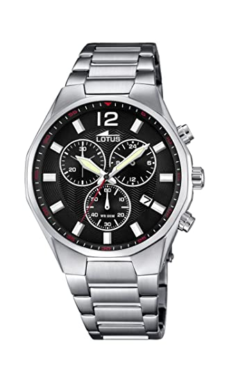 Lotus Reloj Cronógrafo para Hombre de Cuarzo con Correa en Acero Inoxidable 10125/4: Amazon.es: Relojes