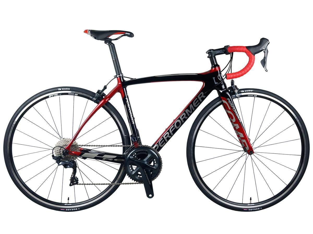 *Pro-Performer プロパフォーマー*〈COMP PRO〉700C ロード バイク 全カーボン Shimano Ultegra 22speed Road Bike  黒赤 B07RTK2B4G