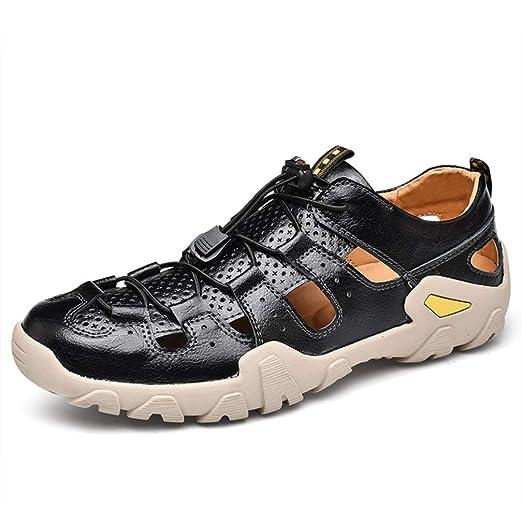 Sandalias y Zapatillas de Espiga de Cuero para Hombres, Chanclas ...