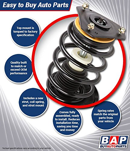 Four Wheel Full Set Quick, Spring, and Strut Mount Assembly Kit Unity Automotive 4-11921-254020-001 Complete
