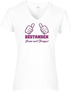Fun Shirt Damen Fun Shirt Damen Spruche Prufung Bestanden Thumbs
