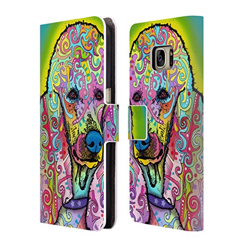 Official Dean Russo Poodle Dogs 3 Leather Book Wallet Case Cover For Samsung Galaxy S7 (Poodle Cover)