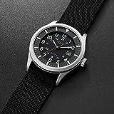 Black Military Analog Wrist Watch for Men, Mens
