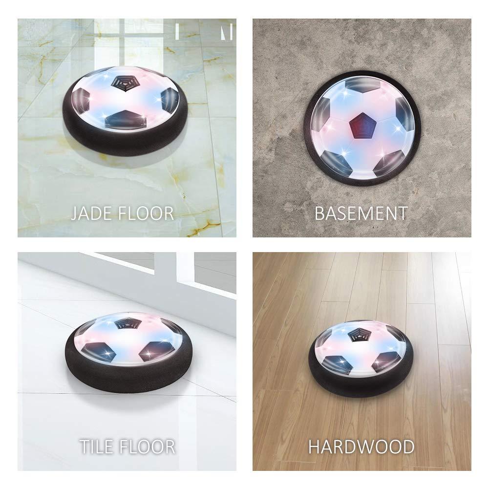 Hover Ball Indoor Fu/ßball mit LED Beleuchtung Perfekt zum Spielen in Innenr/äumen ohne M/öbel oder W/ände zu besch/ädigen TOYK MEHRWEG Air Power Fu/ßball