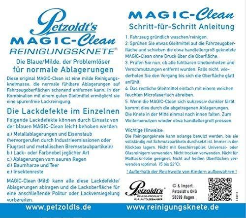 Petzoldt S Profi Reinigungsknete Magic Clean Blau 100 Gramm Lackknete Auto