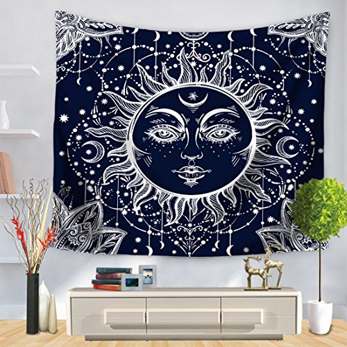 MISSSIXTY Wall Hanging Bedding Tapestry Wall Art Home Decorations for Living Room Bedroom Dorm Decor (Eclipse Living Room Sofa Table)