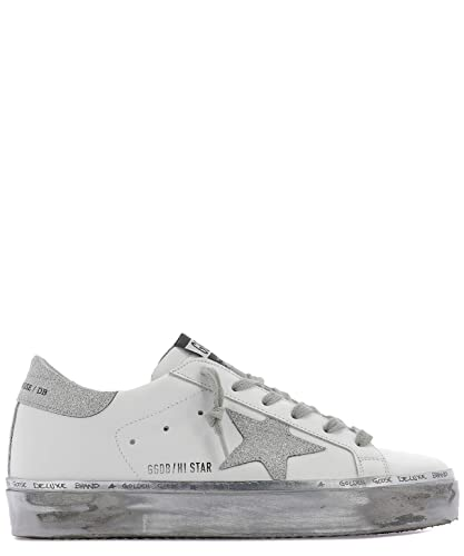 detailed look 8da18 15c1a Golden Goose G34WS945F3 Damen Weiss Leder Sneakers: Amazon ...