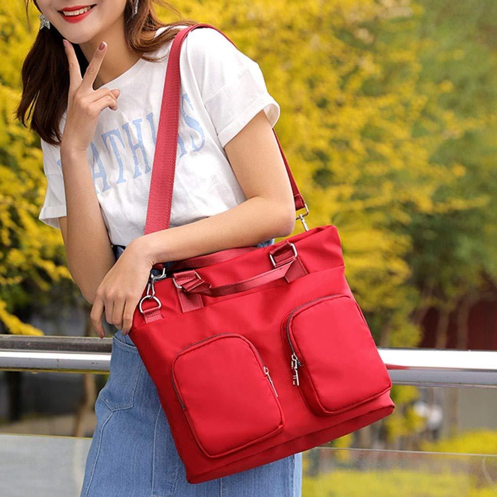 Hot Sale!Fitfulvan Women Waterproof Handbag Nylon Large-Capacity Travel Totes Multi-Function Pocket Crossbody Bags
