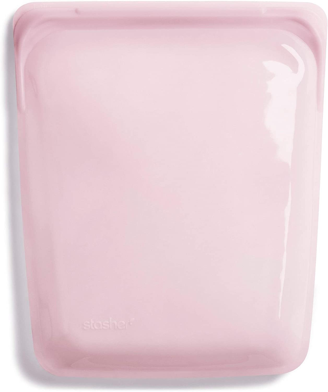 Stasher 100% Silicone Food Grade Reusable Storage Bag, Rose Quartz (1/2 Gallon) | Reduce Single-Use Plastic | Cook, Store, Sous Vide, Freeze | Leakproof, Dishwasher-Safe, Eco-friendly, Non-Toxic | 64 Oz