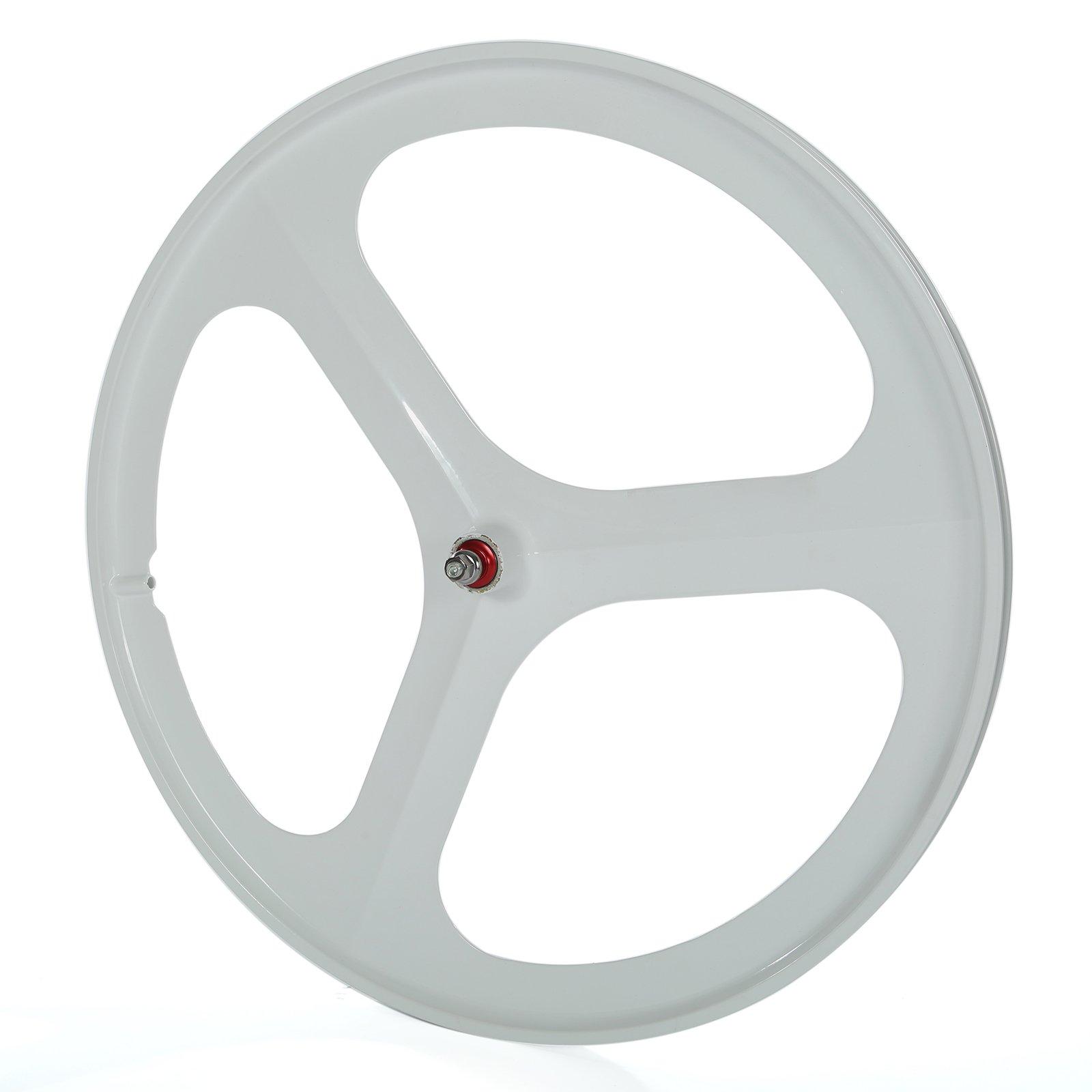 SOLOMONE CAVALLI SC Fixed Gear 700c Tri Spoke Rim Front Rear Single Speed Fixie Bicycle Wheel Set by SOLOMONE CAVALLI