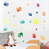 WEWINLE Wall Stickers for Kids, Color Handprint Wall Decals Mural for Living Room Bedroom Kids Rooms Home Décor Color…