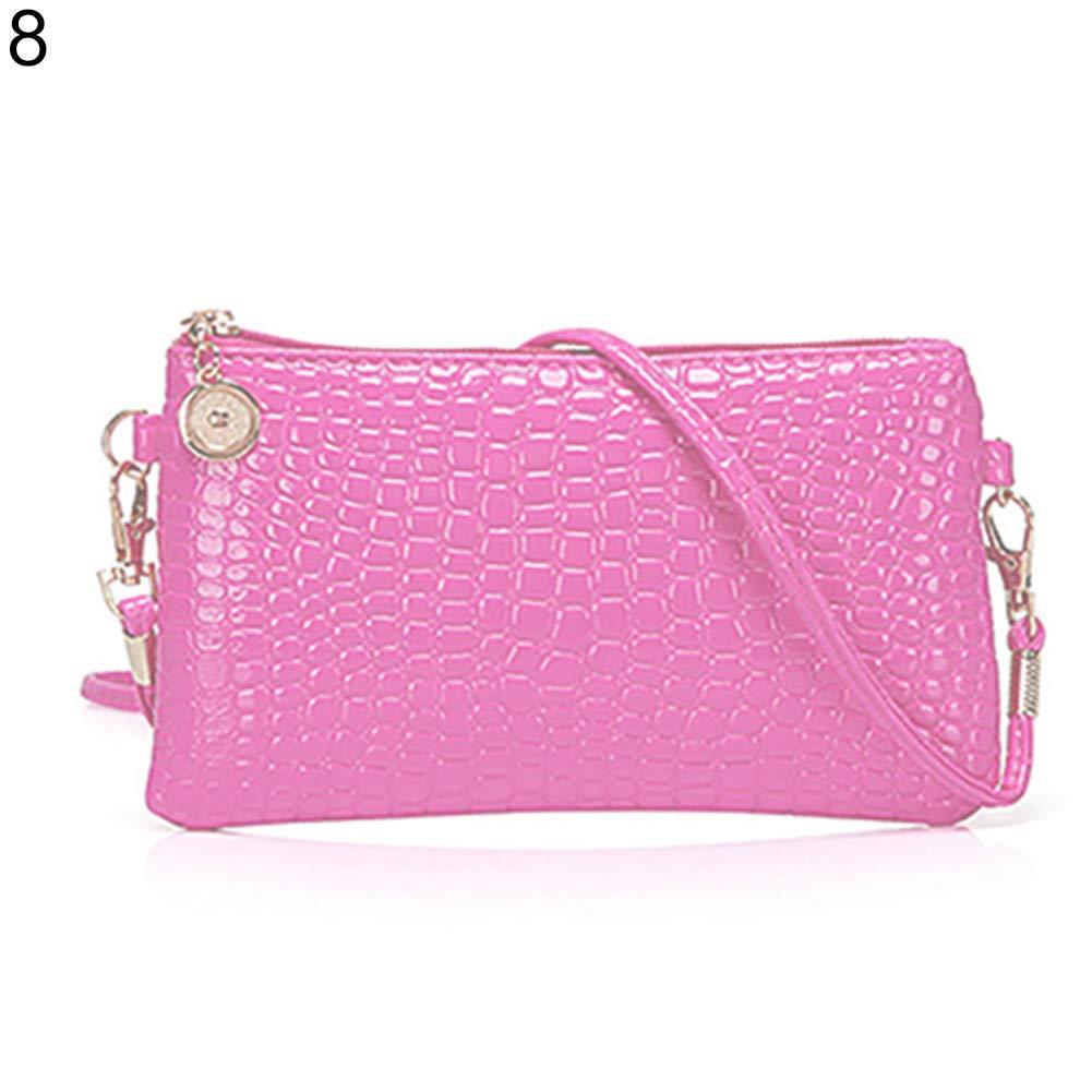 Women Faux Leather Zipper Clutch Mini Cross Body Shoulder Bag Phone Bag by Shengyuze (Image #8)