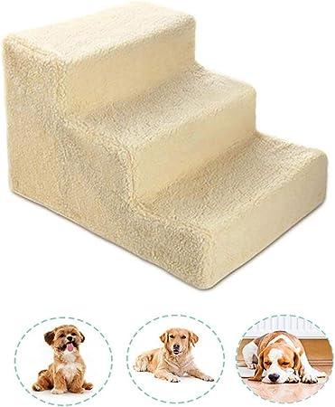 Escalera de Mascota Escaleras for perros 3 pasos for perros pequeños y perritos viejos y gatos enfermos, Escalera de animales for animales Escalera de tijera for camas altas en interiores y exteriores: