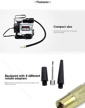 Teetox Coche Bomba de Aire, Premium inflador de neumáticos Auto ...