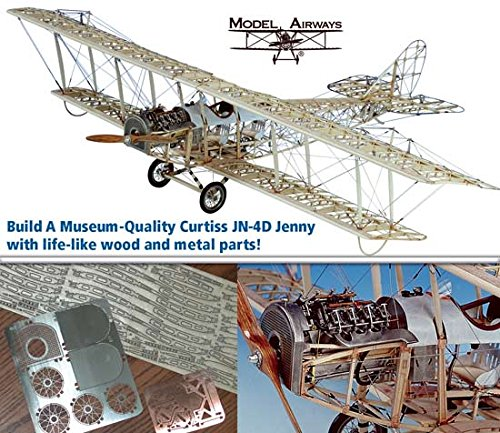 Model Airways MA1010 Curtiss JN-4D Jenny 1:16 Scale - A Wood and Metal Airplane Model ()