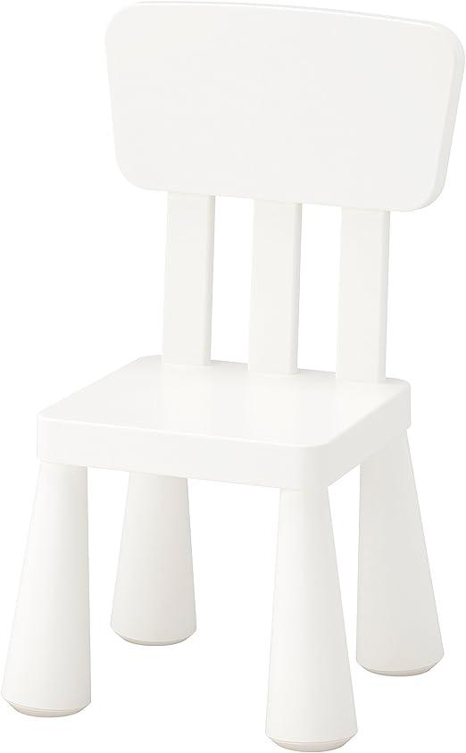 Ikea Mammut niños silla en blanco; para interiores y exteriores