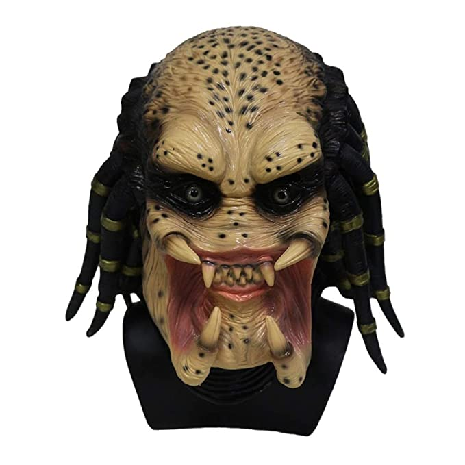Kaapow Máscara Alien Latex Skeleton Hunter Predator Cosplay Martian Scary Latex Disfraces y Disfraces de Halloween: Amazon.es: Juguetes y juegos