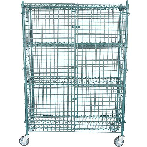 - NSF Mobile Green Wire Security Cage Kit - 18 inch x 48 inch x 69 inch
