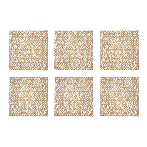 (DII Woven Paper Square Decorative Placemat or Charger for Holidays, Parties, and Décor (16