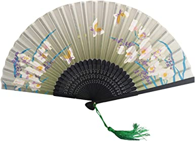 TREESTAR Estilo chino exquisita dama abanico abanico ventilador ...