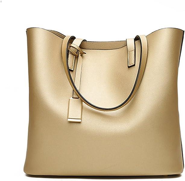 5f86d8192cdc Prime Sale Day Deals Week-Fashion Womens Leather Handbag Bucket Shoulder  Top-handle Bags Handbags Womens Totes Female Ladies Bag (gold)  Handbags   Amazon. ...