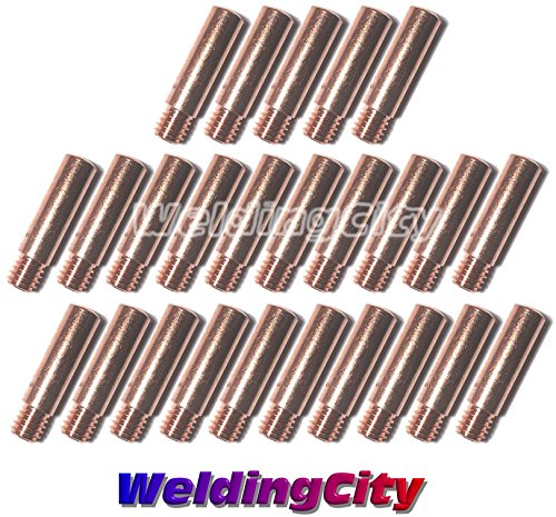 WeldingCity 25-pk MIG Welding Heavy Duty Contact Tip 11H-23 (0.023') for Lincoln Tweco MIG Guns 100L Mini