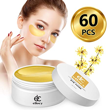 ellocy Hydrolyzed Collagen Eye Mask, Collagen Under Eye Moisturizer, Under Eye Treatment Patches, Hydrating Eye Mask, Anti Aging Eye Pad, Reduce Dark Circles, Puffiness, Eye Bags, Crow s Feet, 60 PCS
