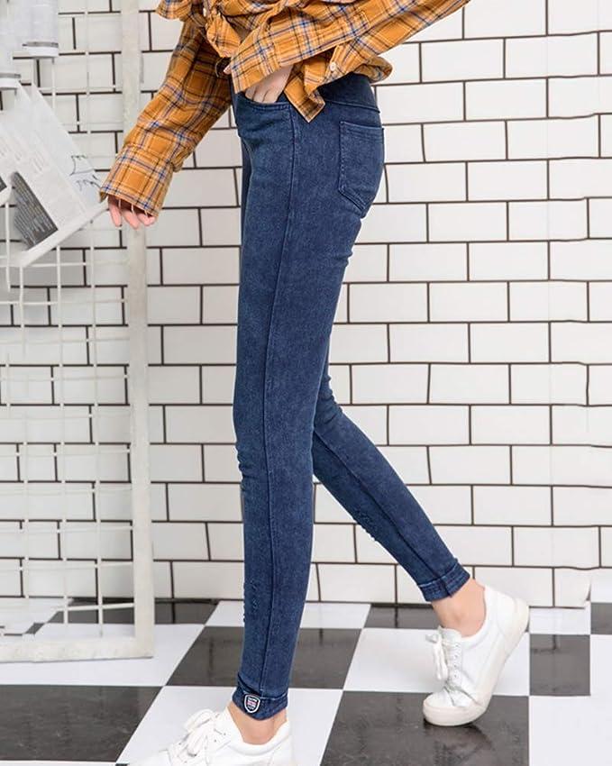 Yiqi Mujer Vaqueros Mallas Básicos Skinny Slim Leggings Forrado Térmico Pantalones