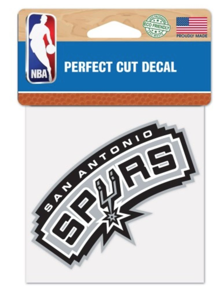 WinCraft NBA San Antonio Spurs 30 x 60 inch Towel and 4 x 4 inch Perfect Cut Decal Set